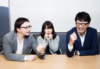 会社で暑く語り合う人達
