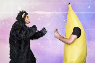 猿のバナナの戦い